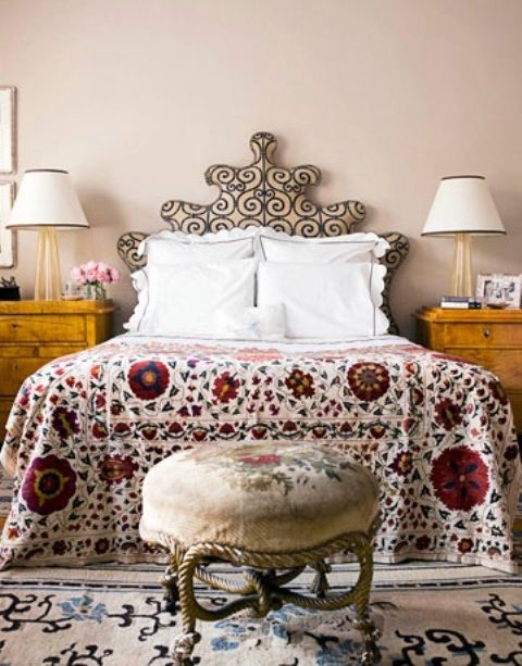 48 Refined Boho Chic Bedroom Designs | DigsDigs This looks like boho x victorian, absolutely dainty.