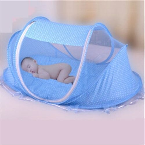portable baby bed 03 years portable foldable baby crib with netting newborn sleep bed travel colourbule and pink