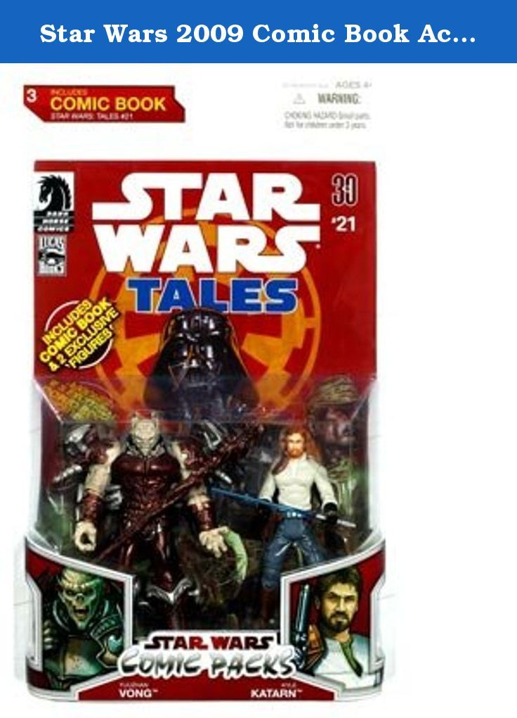 Star Wars 2009 Comic Book Action Figure 2Pack Kyle Katarn & Yuuzhan Vong. Warning: Choking Hazard, Small Parts. Not for children under 3 years. Jedi Knight Kyle Katarn and New Republic agent Jan Ors help Imperial officer Pallin free a group of people on Ord Sedra who have been enslaved by the Yuuzhan Vong. But the flimsy cells in which the Yuuzhan Vong have been placed may not be strong enough to hold these cruel conquerors until morning. Get ready for twice the Star Wars story excitement...