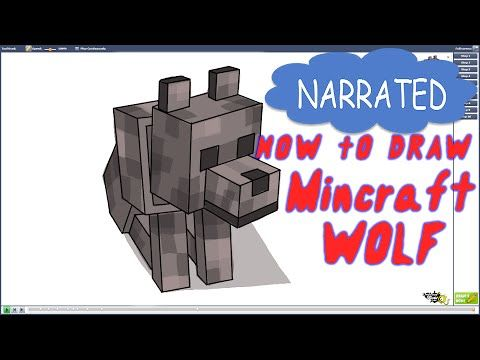 How to Draw a Minecraft Wolf   | DrawingNow