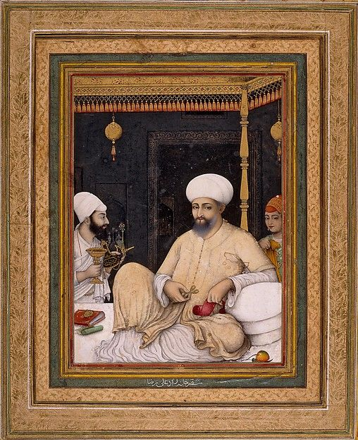 Sultan Ibrahim 'Adil Shah II Venerates a Sufi Saint