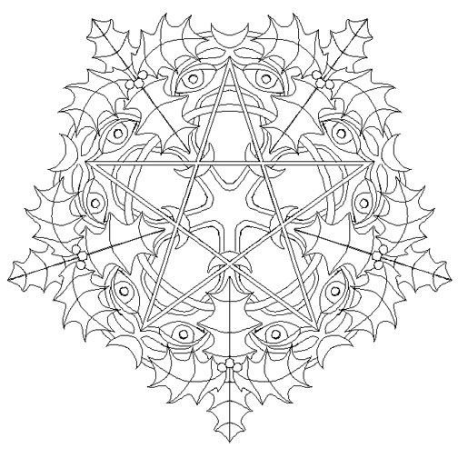 yule winter solstice the pagan christmas page 2 mandalas to coloradult coloring