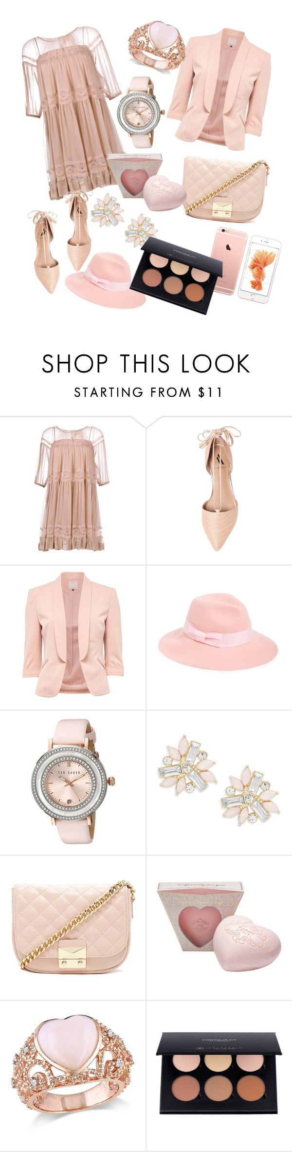 """Untitled #28"" by tokarevabogdana ❤ liked on Polyvore featuring N°21, Ava & Aiden, August Hat, Ted Baker, Cara, Forever 21 and Amour"