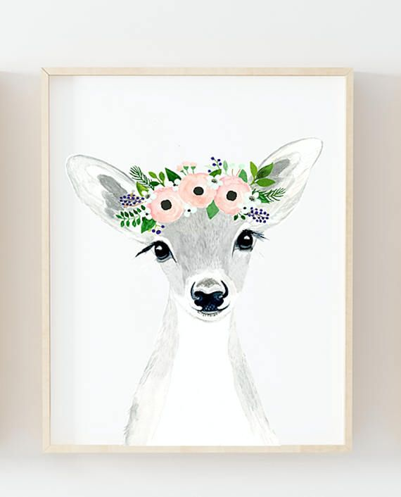 Fawn giclee   Gouache, Acrylics and Watercolor
