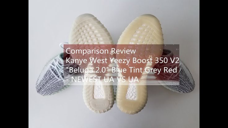 "Comparison Review Kanye West Yeezy Boost 350 V2 ""Beluga 2.0"" Blue Tint G..."