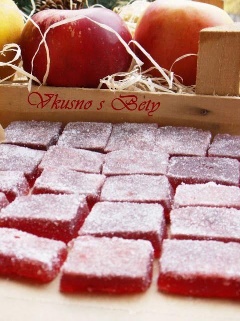 Вкусно с Бети: Плодови бонбони от дюли и ябълки и малини- Коледен календар - Ден…
