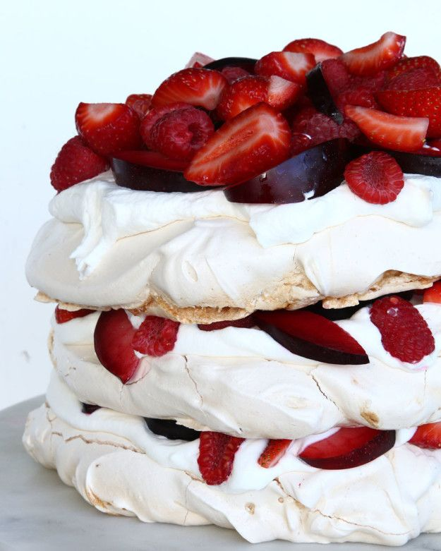 Strawberries and Cream Cloud Cake
