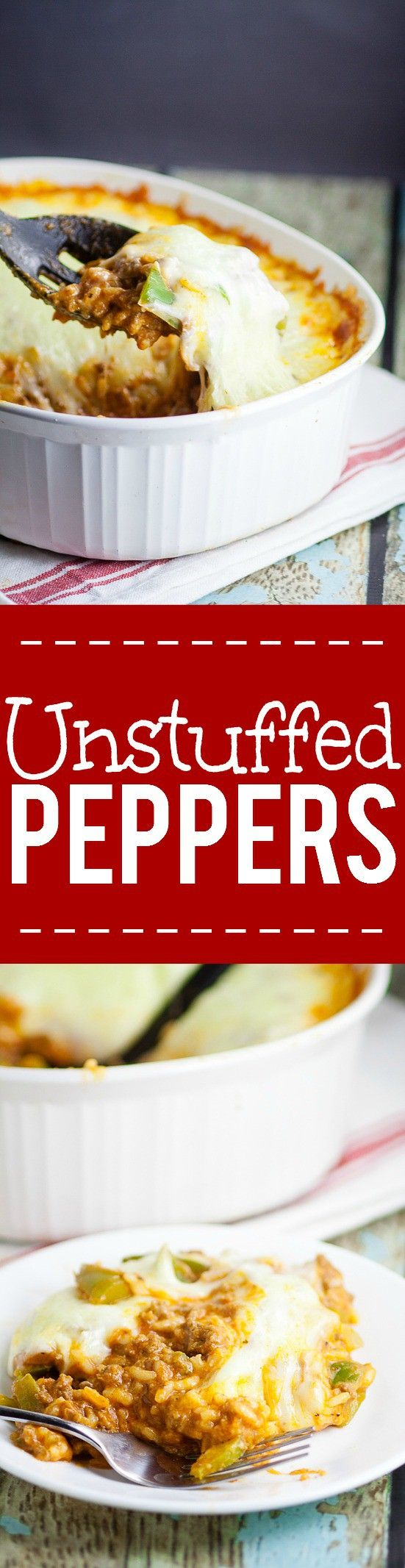 Unstuffed peppers recipe - Quick and easy, 30 minute, one pot dinner recipe…