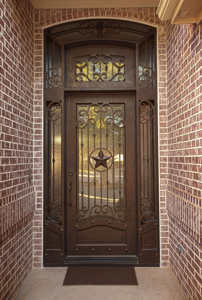 Custom Texas star iron door unit aaleadedglass.com & 39 best Texas Star Doors images on Pinterest Pezcame.Com