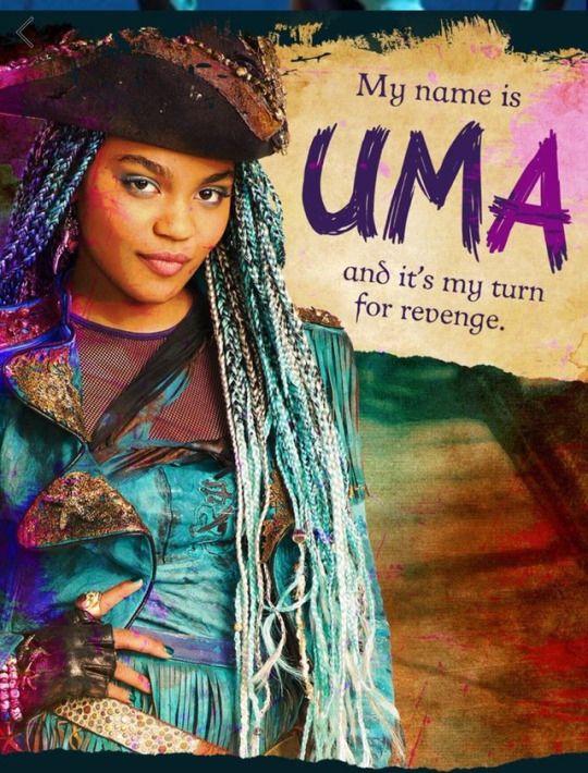 China Anne MicLaine as Uma the daughter of Ursula in descendants 2