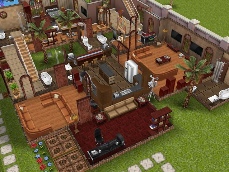brown mansion on sims freeplay