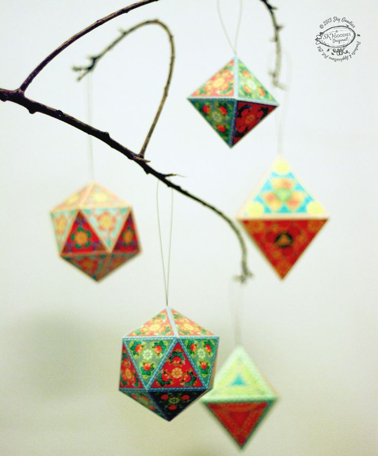 Christmas Ornaments Papercraft
