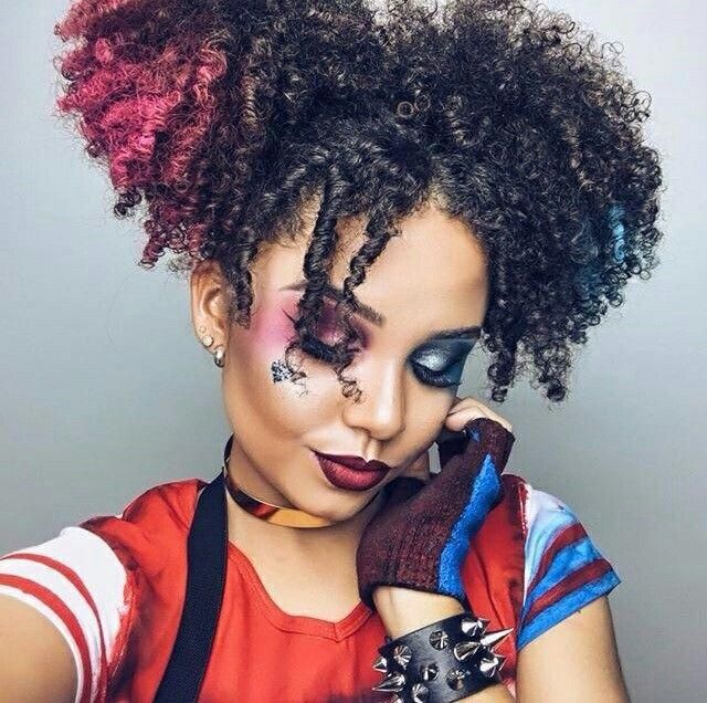 15 Halloween Ideas For Curly Girls Natural Hair Styles Halloween Hair Hair