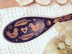 Ornate Wooden Spoon - 'Woodland'
