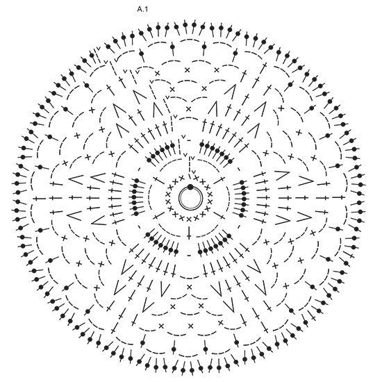 """Janis / DROPS 170-2 - Jersey a ganchillo DROPS trabajado en un cuadrado con mangas acampanadas y patrón de calado con """"Paris"""". Talla: S - XXXL. - Free pattern by DROPS Design"""