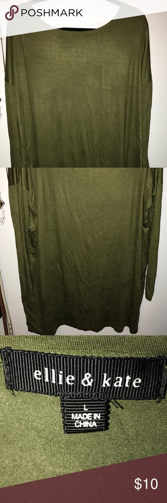 Green Long Sleeve Top - Ellie & Kate Brand Green Long Sleeve Top - can be considered a Tunic - never worn Ellie & Kate Tops