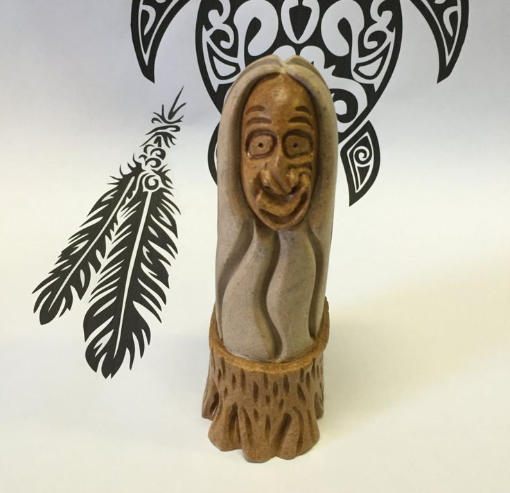 "Iroquois fine art  sculpture from Six Nations by, Neginedasaha ""Standing Tree"" by ifitsticks on Etsy"