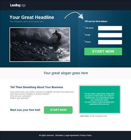 Video Landing Page Templates Kleobeachfixco - Video landing page templates