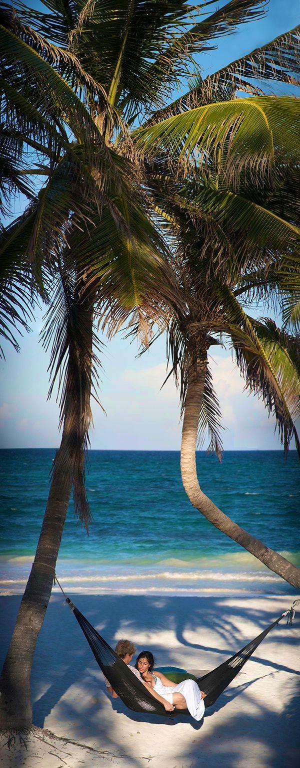 Hammocks on the beach - Hammock On The Beach In Riviera Maya