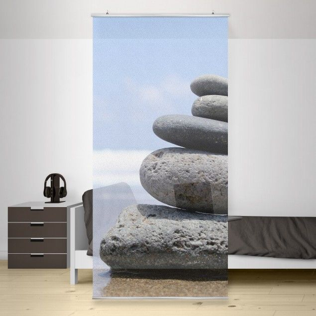 Raumteiler   Vorhang - Sand Stones 250x120cm