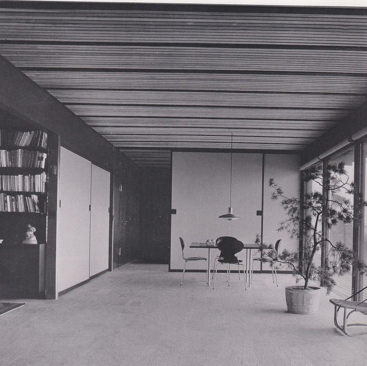 Gunnlogsson Residence in Oresund, Denmark by Halldor Gunnlogsson, 1958