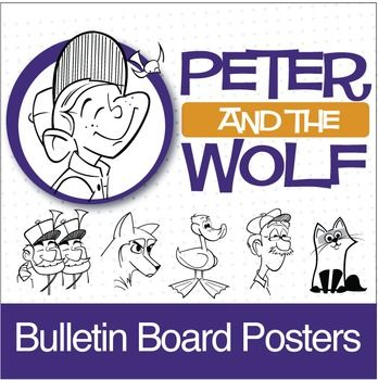 Peter and the Wolf   Bulletin Board Pack (Digital Print) - CLICK HERE for more info https://www.teacherspayteachers.com/Product/Peter-and-the-Wolf-Bulletin-Board-Pack-Digital-Print-2454292
