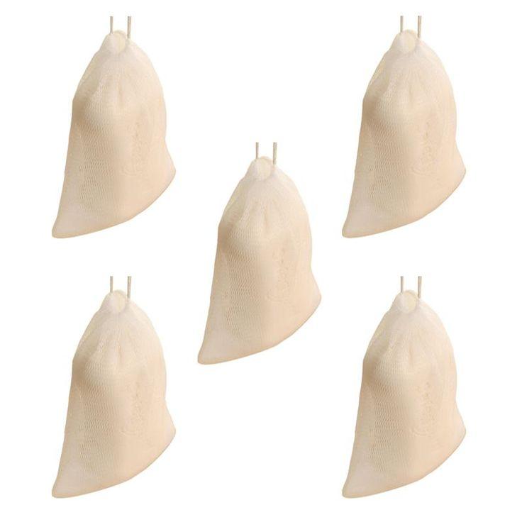 5pcs Soap Saver Pouch Bubble Foam Net Handmade Soap net Mesh Bag Exfoliating Mesh Body Facial Cleaning Tool
