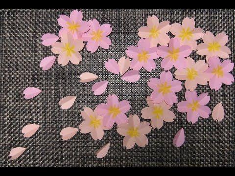 kimie ganiの 桜の壁面掲示(型紙付き) SAKURA to make using the pattern - YouTube
