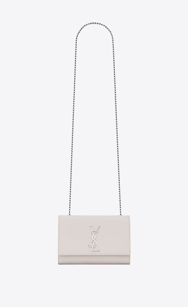 87579e6768 SAINT LAURENT MONOGRAM KATE Woman small kate chain bag in cream textured  leather a V4