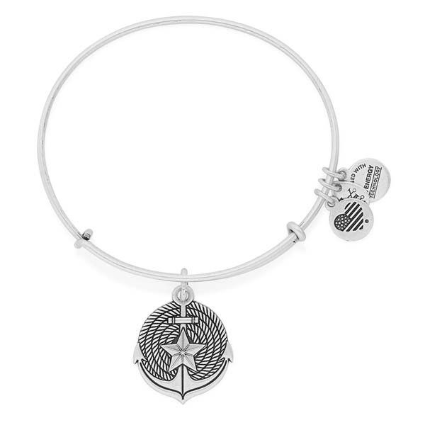 Alex and Ani Anchor Expandable Wire Bangle at The Paper Store