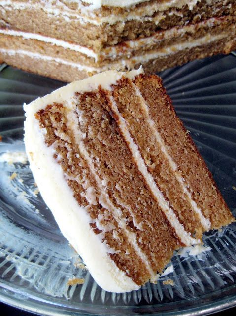 Spice Cake with Caramel Cream Cheese Frosting - A Hint of Honey Cream ...
