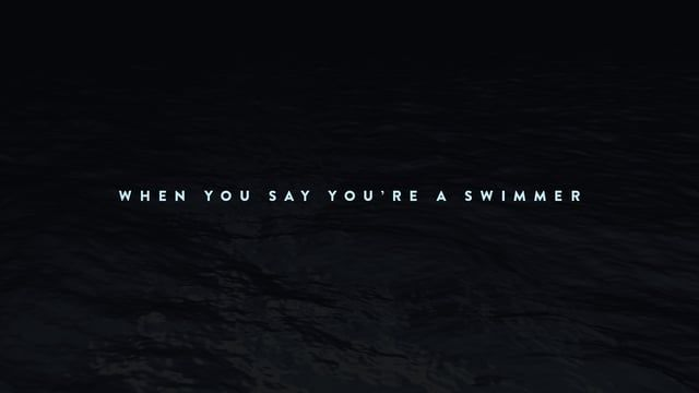 Swimming has played a huge part in my life, so I wanted to bring my experience from the pool into design and animation. When I came across this audio, I knew it was the perfect opportunity to do so. The simplicity and intensity of sound brought forth inspiration for clean and fast kinetic typography.    For more on this project, check out: elig.net/whenyousayyoureaswimmer