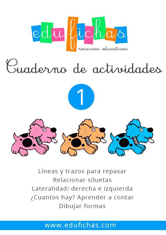 Cuadernillo de actividades en pdf para descargar:  http://edufichas.com/descargas/cuadernillo-de-actividades-1/  #cuadernillos #preescolar