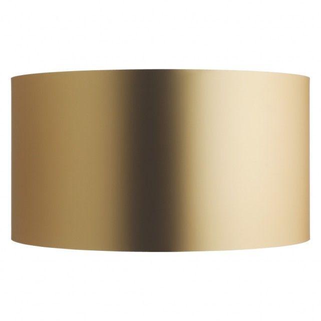 METALLICO Gold metallic drum lampshade 49 x 26cm