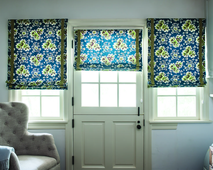 Create an oasis of calm with our sophisticated Fabric Shades. Hand-sewn domestically by master tailors using color-coordinated thread and precision pattern matching, they create a beautiful silhouette that can be found in only one place, your home. Fabric Shades are shipped in 7 business days. Starting at $131  Pictured:  Smith & Noble Flat Roman Fabric Shades Amelia/ Mediterranean 16364  #windowtreatments #homedecor #smithandnoble #windows #blinds #shades
