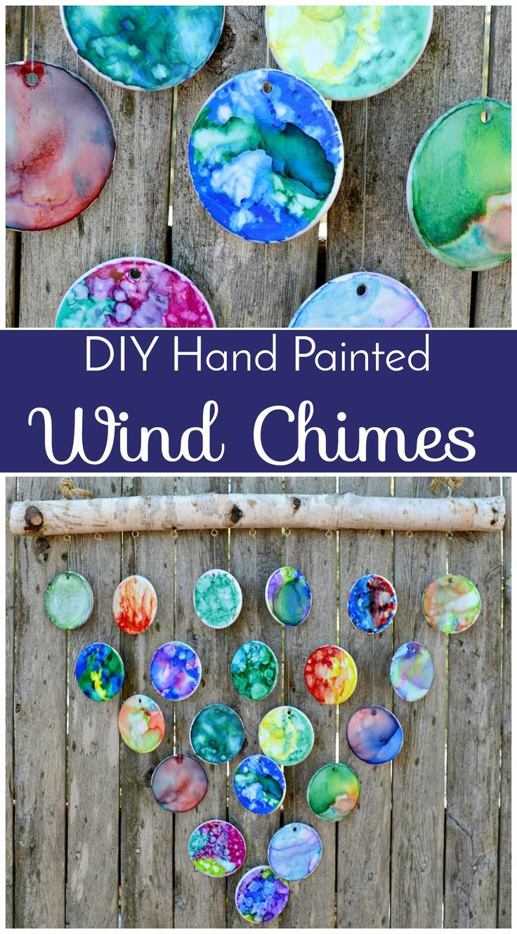 DIY Hand Painted Wind Chimes – 7th Grade Class Auction Project - If you've volunteered to help you child's class create a project for the school auction, then you have to check this out!  It's unique and large scale and will definitely bring in high bids!