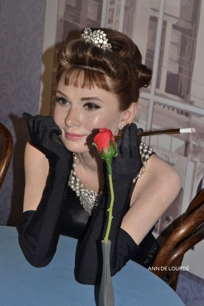 Audrey Hepburn as Holly Golightly in Breakfast at Tiffany's, Summer 2013, Madame Tussauds London.