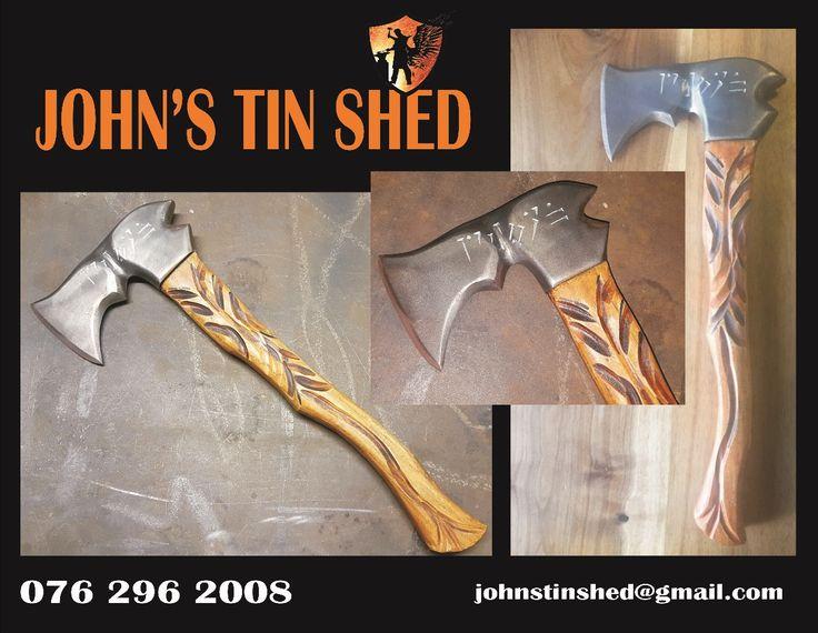Wood & Steel Engraved axe