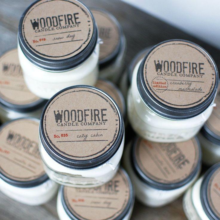 Pick 2 Mason Jar Wood Wick Soy Candle Products Wood