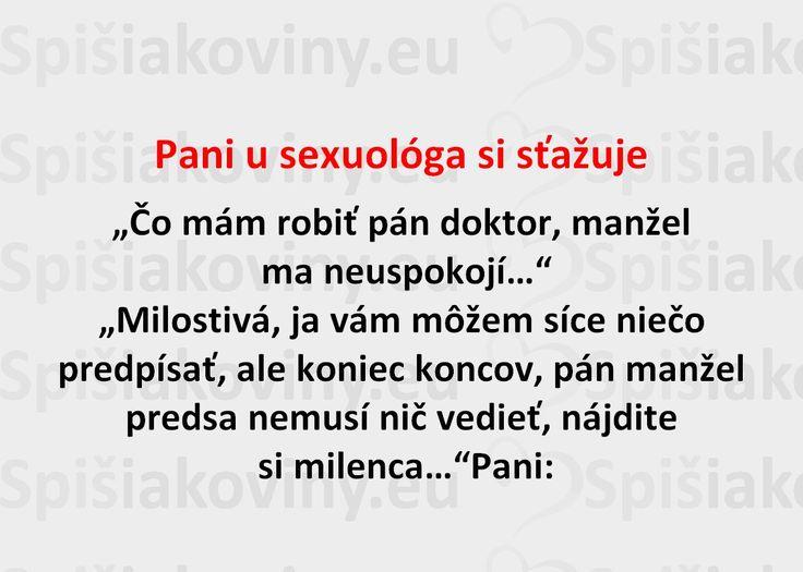 Pani u sexuológa si sťažuje - Spišiakoviny.eu