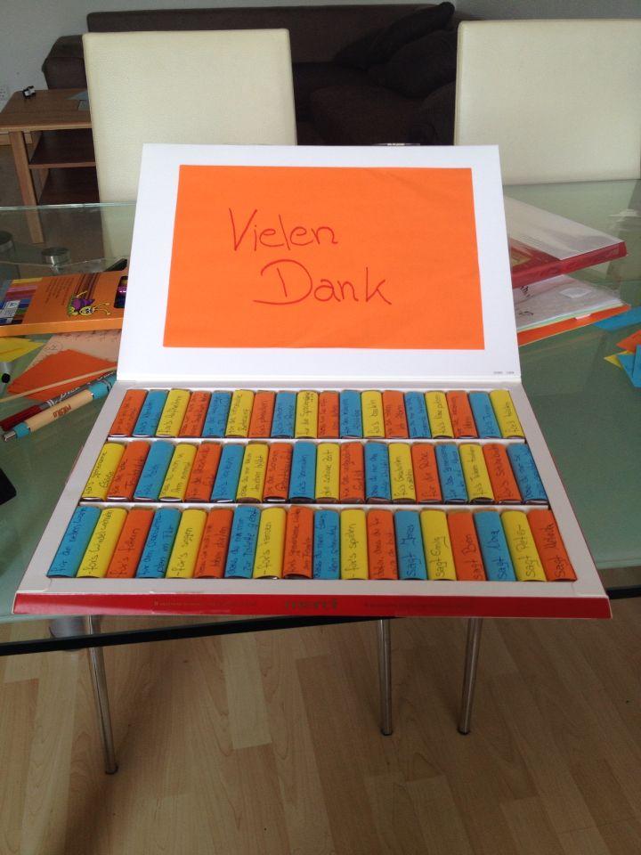 Geschenk für die Erzieherinnen vom Kindergarten