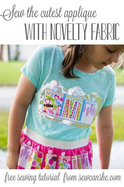 Sew the Cutest Applique with Novelty Fabric — SewCanShe | Free Daily Sewing Tutorials