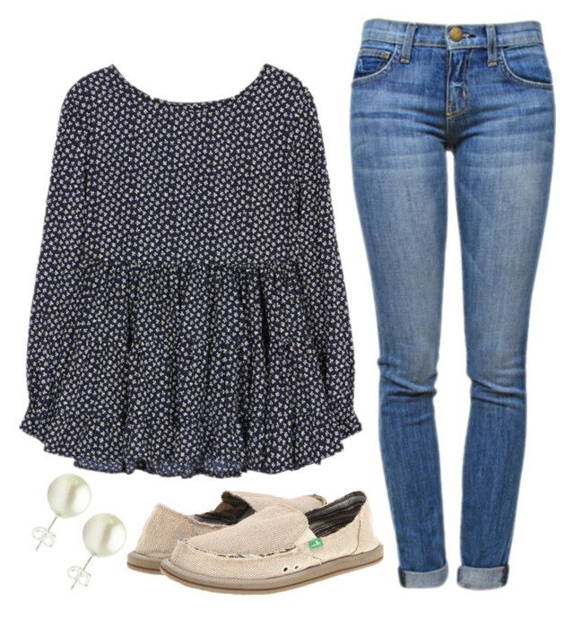 """""""Two hour delay tomorrow"""" by classygrace ❤ liked on Polyvore featuring sanuk and Current/Elliott"""