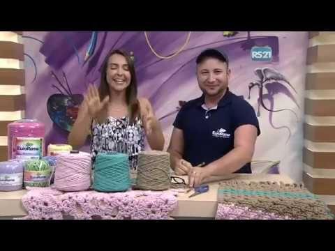 Crochetando com EuroRoma e Marcelo Nunes - Tapete Spesso Mulher.com