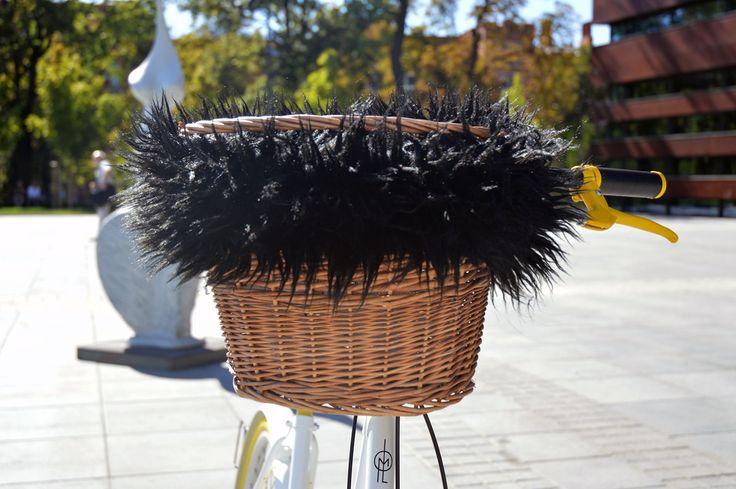 Bike basket Black Hair by BikesBazaar on Etsy