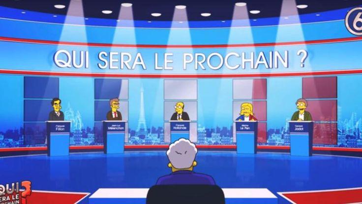 SÉRIE / VIDEO - Avec François Fillon, Jean-Luc Mélenchon et Marine Le Pen, l'ONG parodie les personnages de la série de Matt Groening pour sensibiliser les Français à l'environnement.