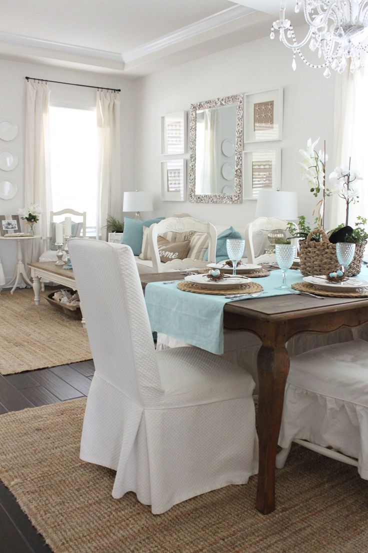Happy Friday everyone! Thanks so much for stopping by the cottage today. Lately, I have been sharing some photos of the cottage decorated for Easter and today I have a pretty Easter-Theme Table all set in the dining room… Since I have been using robins egg blue as my springtime accent color this year, I …