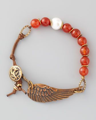 Braided Red Agate Bracelet by Love Heals at Neiman Marcus.