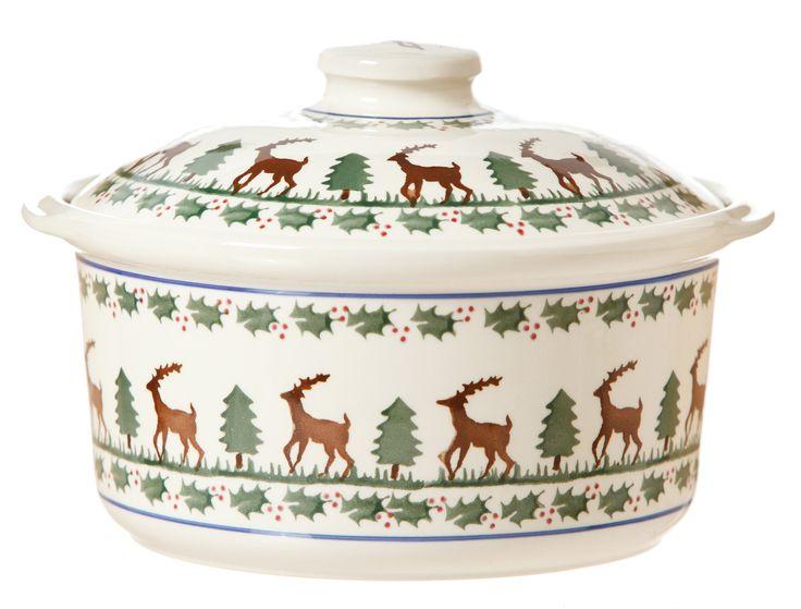 Reindeer Casserole Dish Nicholas Mosse Pottery