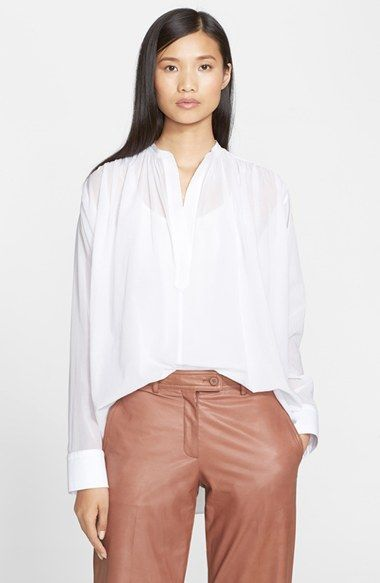Helmut Lang Cotton Voile Poet Shirt available at #Nordstrom